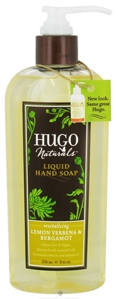 DROPPED: Hugo Naturals - Liquid Hand Soap Revitalizing Lemon Verbena & Bergamot - 8 oz.