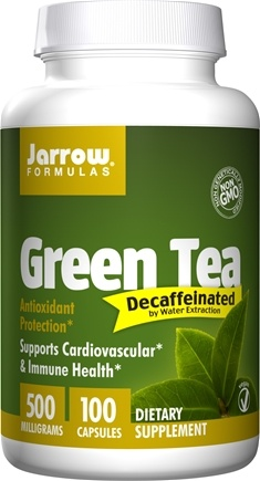 DROPPED: Jarrow Formulas - Green Tea Decaffeinated 500 mg. - 100 Vegetarian Capsules