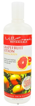 DROPPED: Mill Creek Botanicals - Hand & Body Lotion Grapefruit - 16 oz. CLEARANCE PRICED