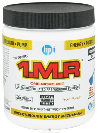 DROPPED: BPI Sports - 1 M.R Ultra Concentrated Pre-Workout Powder - 28 Servings Fruit Punch - 224 Grams CLEARANCE PRICED