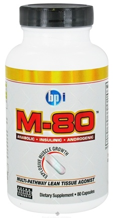 DROPPED: BPI Sports - M-80 Multi-Pathway Lean Tissue Agonist - 80 Capsules CLEARANCE PRICED