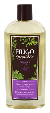 DROPPED: Hugo Naturals - Shower Gel Calming French Lavender - 12 oz. CLEARANCE PRICED