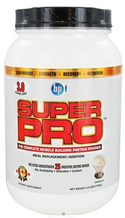 DROPPED: BPI Sports - Super Pro Complete Muscle Building Protein Powder Vanilla - 3 lbs. CLEARANCE PRICED