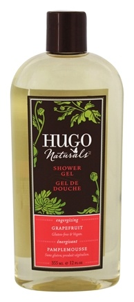 DROPPED: Hugo Naturals - Shower Gel Energizing Grapefruit - 12 oz. CLEARANCE PRICED