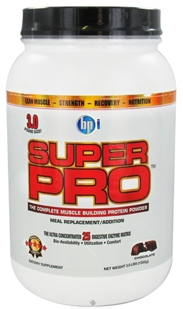 DROPPED: BPI Sports - Super Pro Complete Muscle Building Protein Powder Chocolate - 3 lbs. CLEARANCE PRICED