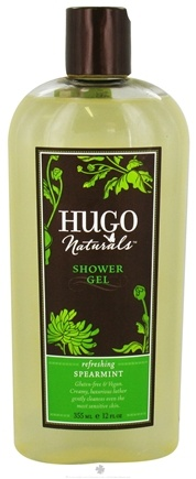 DROPPED: Hugo Naturals - Shower Gel Refreshing Spearmint - 12 oz. CLEARANCE PRICED