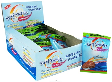 DROPPED: Surf Sweets - Sour Berry Bears Snack Packs All Natural - 0.9 oz.