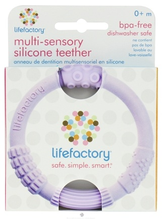 DROPPED: Lifefactory - Multi-Sensory Silicone Teether Lilac - CLEARANCE PRICED