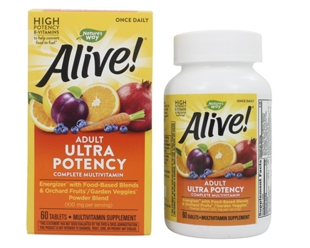 Nature's Way - Alive Once Daily Multi-Vitamin Whole Food Energizer Ultra Potency - 60 Tablets