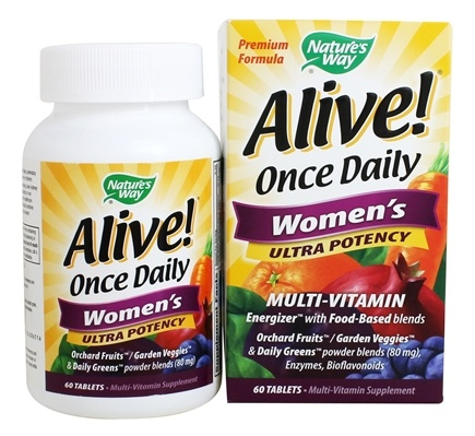 Nature's Way - Alive Once Daily Women's Multi-Vitamin & Whole Food Energizer Ultra Potency - 60 Tablets