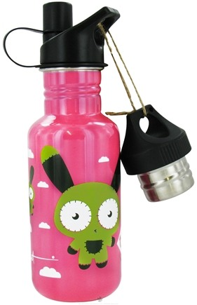 DROPPED: Conscious Containers - U Turn 2 Tap Stainless Steel Water Bottle Bunny Float Pink - 16 oz.