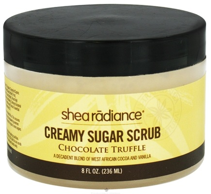 DROPPED: Shea Radiance - Creamy Sugar Scrub Chocolate Truffle - 8 oz. CLEARANCE PRICED