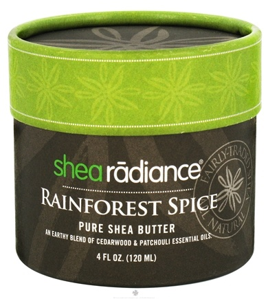 DROPPED: Shea Radiance - Pure Shea Butter Rainforest Spice - 4 oz. CLEARANCE PRICED