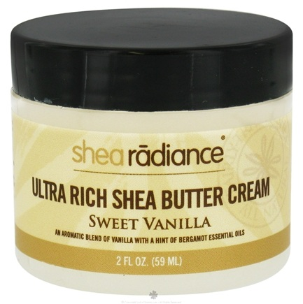 DROPPED: Shea Radiance - Ultra Rich Shea Butter Cream Sweet Vanilla - 2 oz. CLEARANCE PRICED