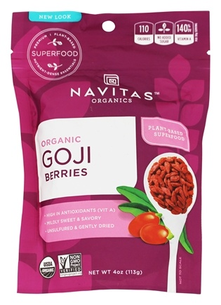 Navitas Naturals - Sun-Dried Goji Berries - 4 oz.
