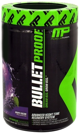 DROPPED: Muscle Pharm - Bullet Proof Advanced Night Time Recovery System Grape Fusion - 10.97 oz. CLEARANCE PRICED