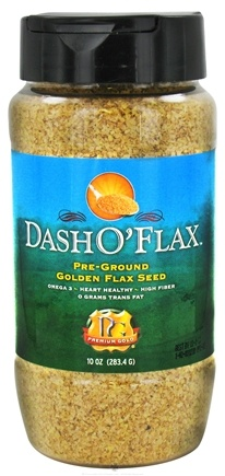 DROPPED: Premium Gold Flax Products - Dash O'Flax Pre-Ground Golden Flax Seed - 10 oz. CLEARANCE PRICED