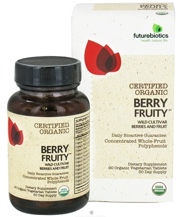 DROPPED: Futurebiotics - Certified Organic Berry Fruity Wild Cultivar Berries and Fruit - 90 Vegetarian Tablets CLEARANCE PRICED