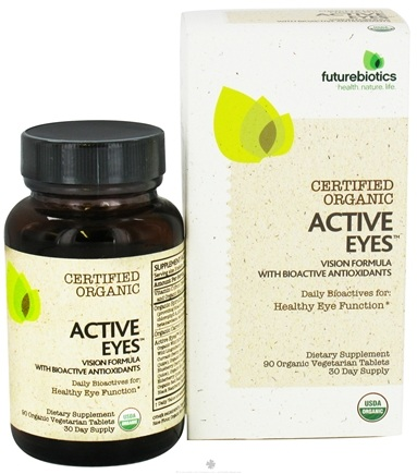 DROPPED: Futurebiotics - Certified Organic Active Eyes Vision Formula with Bioactive Antioxidants - 90 Vegetarian Tablets