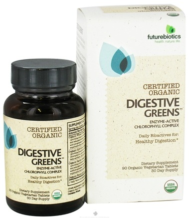 DROPPED: Futurebiotics - Certified Organic Digestive Greens Enzyme-Active Chlorophyll Complex - 90 Vegetarian Tablets