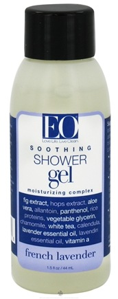 DROPPED: EO Products - Shower Gel Soothing Moisturizing Complex Travel Size French Lavender - 1.5 oz. CLEARANCE PRICED