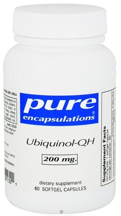 DROPPED: Pure Encapsulations - Ubiquinol-QH 200 mg. - 60 Softgels CLEARANCE PRICED