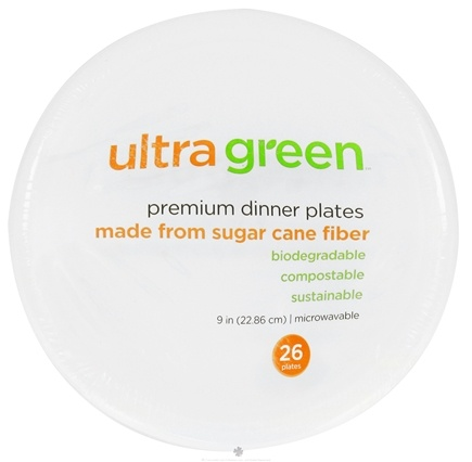 DROPPED: Ultra Green - Premium Dinner Plates 9 Inches - 26 Pack CLEARANCE PRICED
