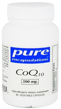 DROPPED: Pure Encapsulations - CoQ10 500 mg. - 60 Vegetarian Capsules CLEARANCE PRICED