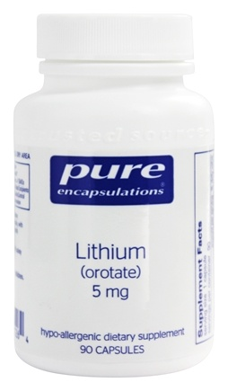 Pure Encapsulations - Lithium Orotate 5 mg. - 90 Vegetarian Capsules