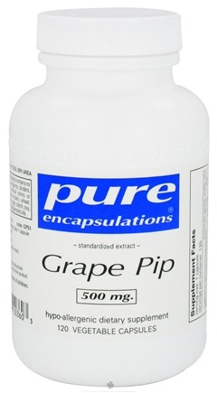 DROPPED: Pure Encapsulations - Grape Pip Standardized Grape Seed Extract 500 mg. - 120 Vegetarian Capsules CLEARANCE PRICED