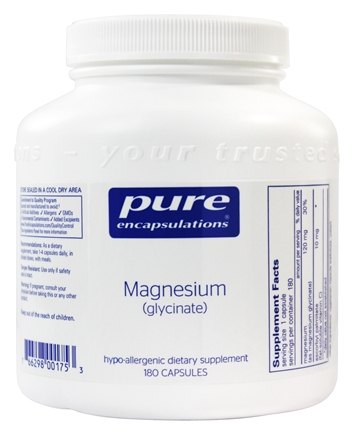 Pure Encapsulations - Magnesium Glycinate - 180 Vegetarian Capsules