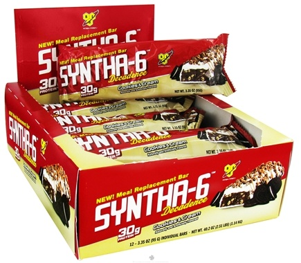 DROPPED: BSN - Syntha-6 Decadence Meal Replacement Protein Bar Cookies & Cream - 2.91 oz.