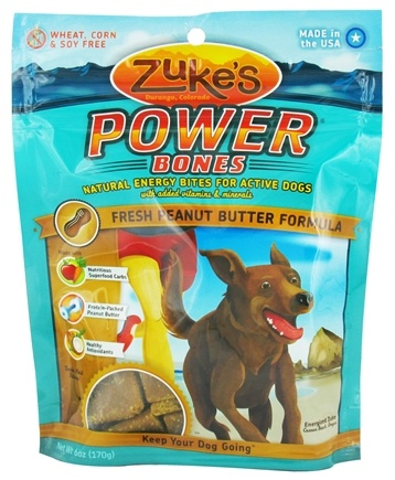 DROPPED: Zuke's - Power Bones Energy Treats for Active Dogs Peanut Butter Formula - 6 oz. CLEARANCE PRICED