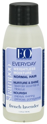 DROPPED: EO Products - Shampoo Everyday Weightless Moisture Travel Size French Lavender - 1.5 oz.