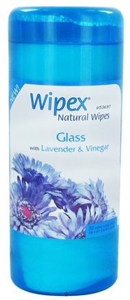 DROPPED: Wipex Natural Wipes - Glass Wipes with Lavender & Vinegar Extra Large 7 in. x 9 in. - 30 Wipe(s) CLEARANCE PRICED