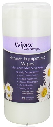 DROPPED: Wipex Natural Wipes - Fitness Equipment Wipes with Lavender & Vinegar 7 in. x 9 in. - 75 Wipe(s)
