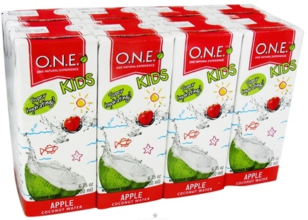 DROPPED: O.N.E. - Kids Coconut Water 8 Pack Apple - 6.75 oz. CLEARANCE PRICED