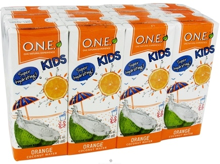 DROPPED: O.N.E. - Kids Coconut Water 8 pack Orange - 6.75 oz. CLEARANCE PRICED