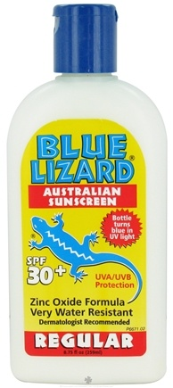 DROPPED: Blue Lizard - Australian Sunscreen Regular Zinc Oxide Formula Water Resistant 30 SPF - 8.75 oz. CLEARANCE PRICED