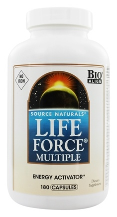 Source Naturals - Life Force Multiple Energy Activator No Iron - 180 Capsules