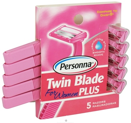 DROPPED: Personna - Twin Blade Plus Disposable Razors For Women - 5 Pack CLEARANCE PRICED
