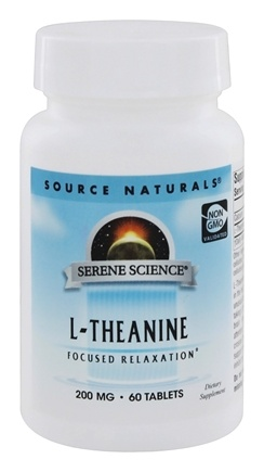 Source Naturals - L-Theanine 200 mg. - 60 Tablet(s)