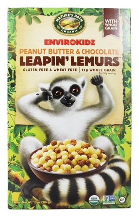 DROPPED: Nature's Path Organic - EnviroKidz Organic Cereal Leapin' Lemurs Peanut Butter & Chocolate - 10 oz.