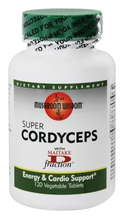 DROPPED: Mushroom Wisdom - Super Cordyceps - 120 Vegetarian Tablets Formerly Maitake Products