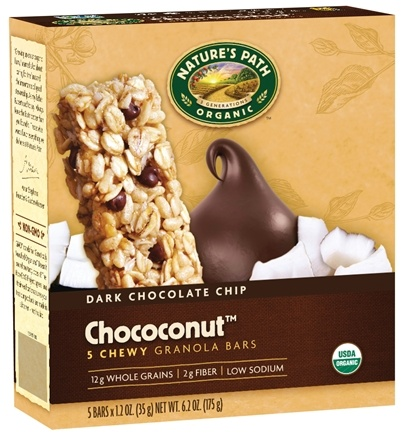 DROPPED: Nature's Path Organic - Chewy Granola Bars Dark Chocolate Chip Choconut - 5 Bars
