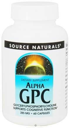 DROPPED: Source Naturals - Alpha GPC Glycerylphosphorylcholine 285 mg. - 60 Capsules CLEARANCE PRICED
