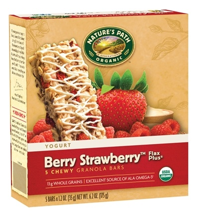 DROPPED: Nature's Path Organic - Chewy Granola Bars Flax Plus Yogurt Berry Strawberry - 5 Bars CLEARANCE PRICED