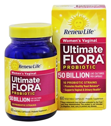 Renew Life - Ultimate Flora Women's Vaginal Probiotic - 60 Vegetarian Capsules