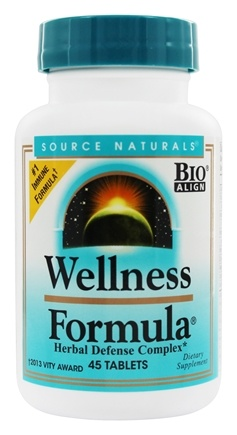 DROPPED: Source Naturals - Wellness Formula Herbal Defense Complex - 45 Tablets