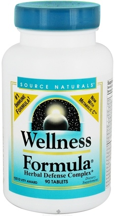 DROPPED: Source Naturals - Wellness Formula Herbal Defense Complex - 90 Tablets